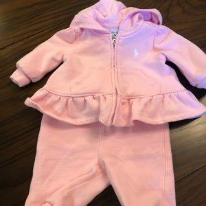 Ralph Lauren pale pink baby girl sweatsuit